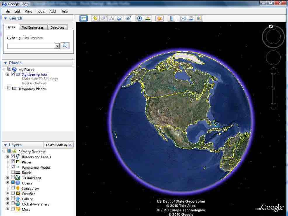 screenshot of Google Earth Pro