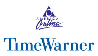 aol and time warner logos side by side
